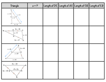 Triangle Midsegments Mix-N-Match!