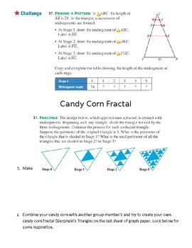 Triangle Midsegments with Candycorn Activity