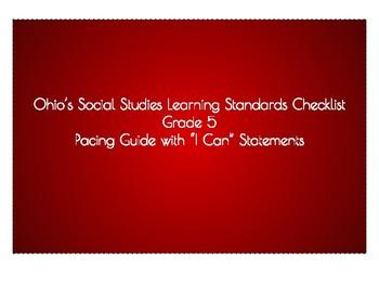 5th Grade Ohio Social Studies Pacing Guide