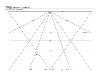 Triangle & Parallel Lines Puzzle