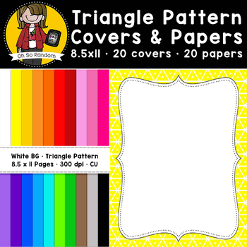 triangle pattern covers papers cu freebie by oh so random tpt