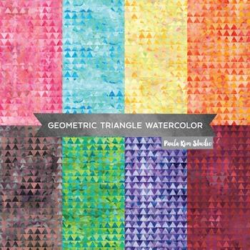 Triangle Pattern Tribal Digital Paper Pack