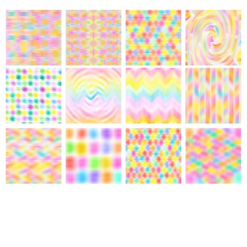 Triangle Pixelation Background Patterns Clip Art Pack for Commercial Use