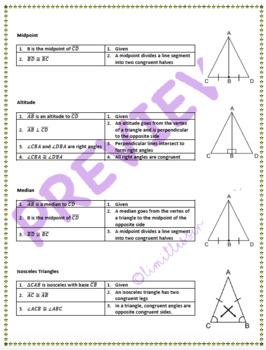 Triangle Proof Cheat Sheet