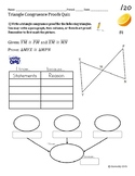 Triangle Proofs Quiz (4 total: two versions with or withou