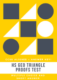 Triangle Proofs Test