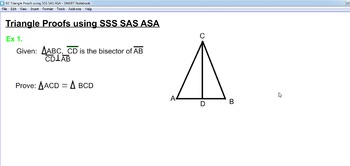 Triangle Proofs using SSS, SAS, ASA