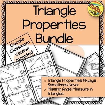 Triangle Properties Bundle TEKS 6.8A and 6.8B