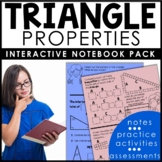 Triangle Properties Interactive Notebook Set | Distance Learning