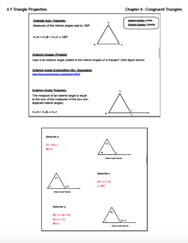 Triangle Properties (Lesson with Homework)