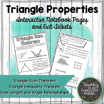 Triangle Inequality Theorem Notes Worksheets Teaching
