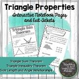 Triangle Properties Math Notebook-Triangle Angle Sum-Trian