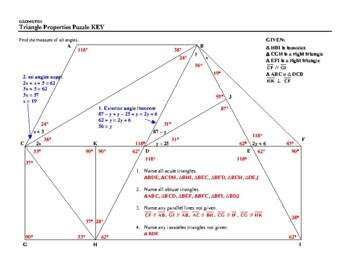 Triangle Properties Puzzle
