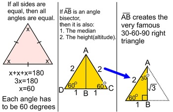 Triangle Properties- Student Reference, a Proof, + 4 Assignments for PDF