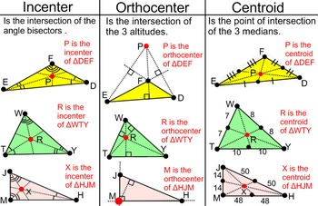 Triangle Properties- Student Reference, a Proof, + 4 Assignments for Power Point