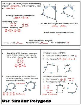 Triangle Properties and Similarity Flipbook