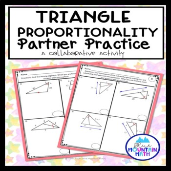 Triangle Proportionality Theorem Partner Practice