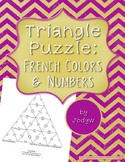 Triangle Puzzle - French Colors and Numbers