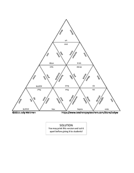 Triangle Puzzle - French Numbers 1-18