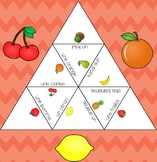 3 Triangle Puzzles - Names of fruits in French