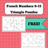 Triangle Puzzles - FREE - French Numbers 0-15