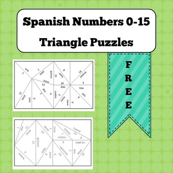 Triangle Puzzles - FREE - Spanish Numbers 0-15