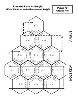 Triangle Puzzles (Finding Area, Base, or Height)