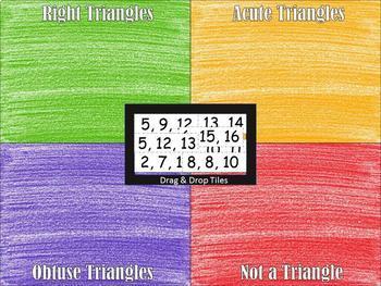 Triangle & Pythagorean's Inequalities~Sort~Google Drive Interactive Activity