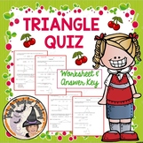 Triangle QUIZ Triangles Angles Sides Practice Review or Quiz Geometry Worksheets