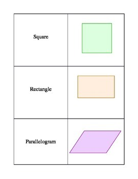 Triangle Quadrilateral Memory Game