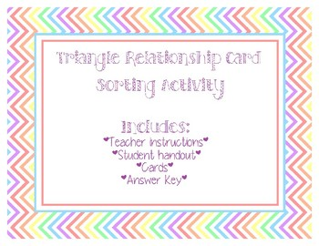 Triangle Relationships: Card Sorting Activity
