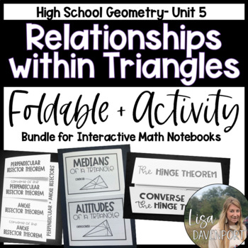 Triangle Relationships (Geometry Foldable Bundle #4)
