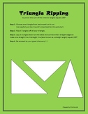 Triangle Ripping - Sum of Interior Angles
