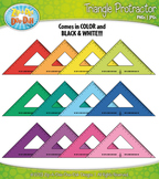 FREE Triangle Rulers / Protractors Clipart — Over 12 Graphics!