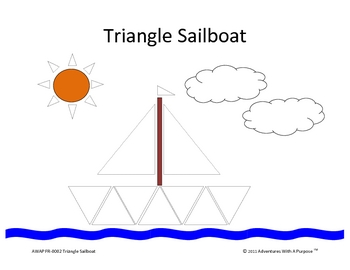 Triangle Sailboat Collage or File Folder Game