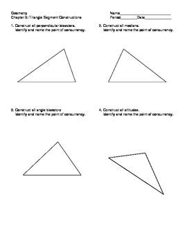 Triangle Segment Constructions