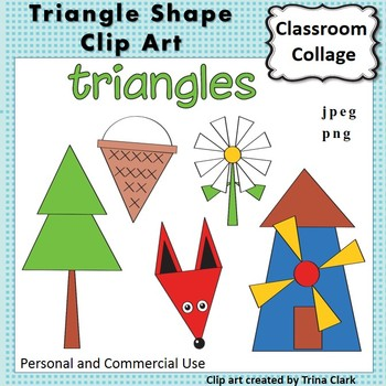 Triangle Shape Clip Art Color personal & commercial use Ge