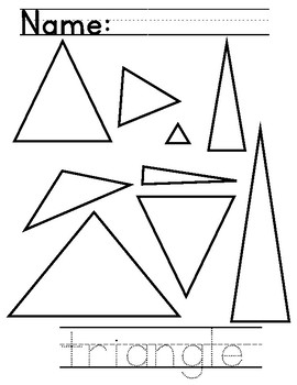 Triangle Shape Color/Trace Page