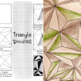 Triangle Shape Doodle Drawing- Worksheet + VIDEO instructions! Virtual + F2F!