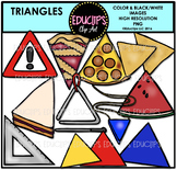 Triangle Shapes Clip Art Bundle {Educlips Clipart}