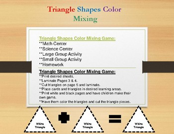 Triangle Shapes Color Mixing