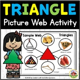 Triangle Shape Picture Web Activity for Preschool