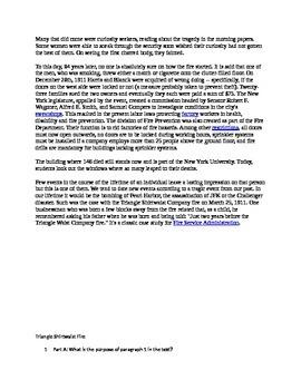 Triangle Shirtwaist Fire PARCC questions