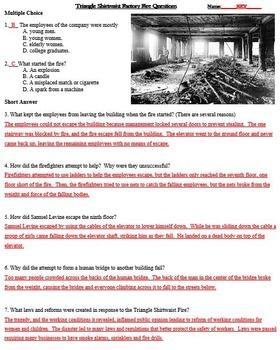 Triangle Shirtwaist Fire Progressive Movement Era / Labor Reform Reading Passage