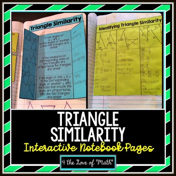 Triangle Similarity Interactive Notebook Page