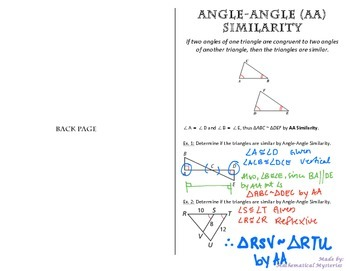 Triangle Similarity - AA, SSS, SAS