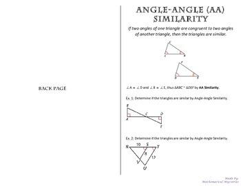Triangle Similarity - AA, SSS, SAS