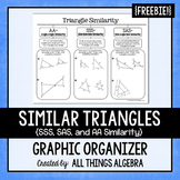 Triangle Similarity (AA~, SSS~, and SAS~) Graphic Organizer