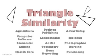 Triangle Similarity Career Poster
