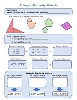 Triangle Similarity Criteria